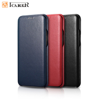 ICARER Case for Samsung Galaxy S9 S9Plus flip Leather Case Premium Cured Edge Luxury Real Leather for Samsung S9 Plus
