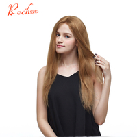 Rechoo Clip Ins Non Remy Hair Extension 27 Color Brazilian Straight Human Hair Clip In Extensions