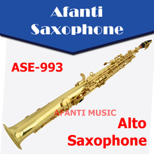 Afanti Music Bb tone / Brass body / Gold finish Soprano Saxophone (ASE-993)