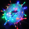 LED Christmas Lights 10M/100led 9color US EU Plug AC110 220V Led String Light Wedding Party Decoration Lights Outdoor