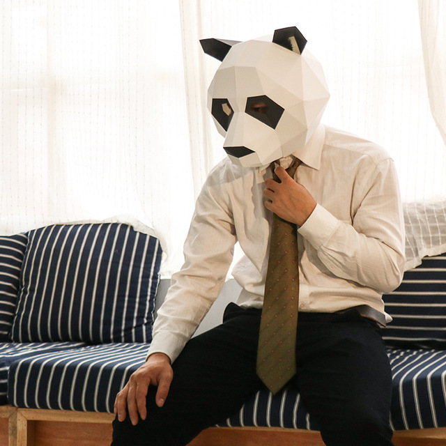 Le Panda – Paper Mask 3D Creative