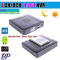 Mini HD DVR CCTV Grabador de Vídeo NVR 4CH Onvif 4/8 Red del canal H.264 DVR De 720 P 1080 P Cámara IP de Vigilancia sistema