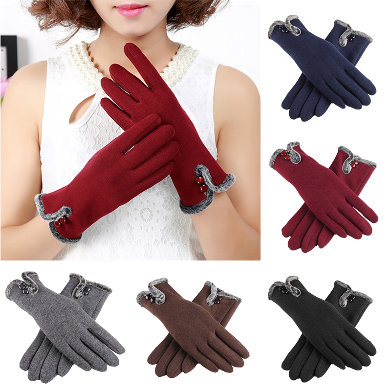 NAIVEROO Waterproof and Warm Touch Screen Gloves made of PU Leather and Conductive Fibers for Women Suitable for Spring and Winter 1