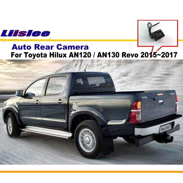 Liislee para Toyota Hilux 2010 ~ 2017/cámara de Vista trasera del coche/aparcamiento cámara de marcha atrás/CCD RCA NTST PAL/reverso agujero OEM