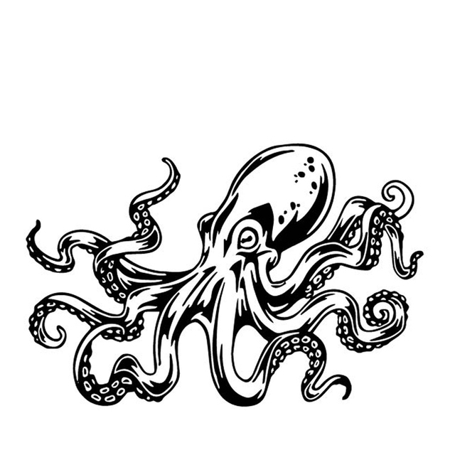 Octopus Car Sticker Vinyl Decal Giant Pacific