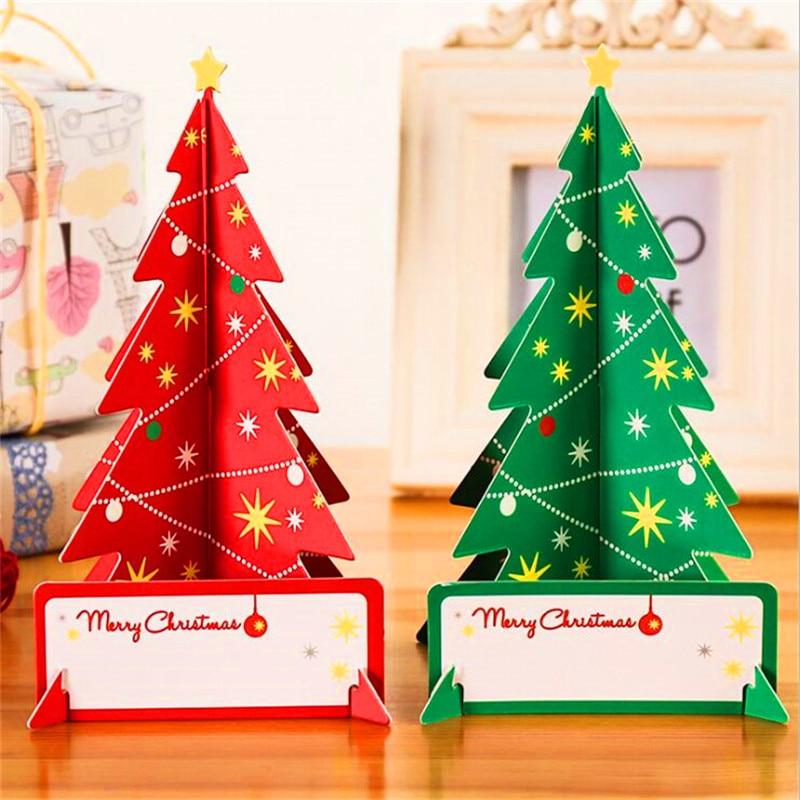 3d Christmas Card Luminous Postcard Including Envelope Greeting