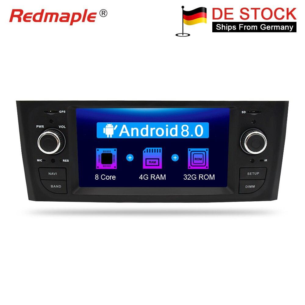 Android 7.1/8.0 Autoradio GPS Navigation Multimédia Stéréo Pour Fiat Grande Punto Linea 2006-2012 Auto Audio WIFI Bluetooth IPS