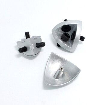 1 Conector tridimensional 3030/4040R con tapa de extremo de metal y tornillos para perfil de aluminio de la UE