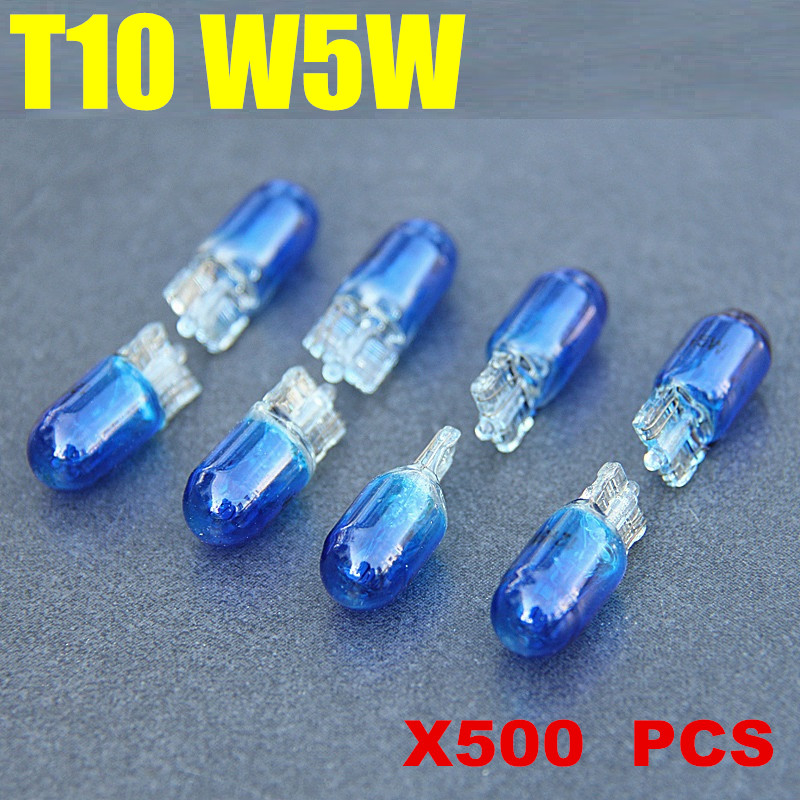 Dianshi 500 pcs T10 Halogen W5W 194/501 Cool White 5W  bulb-in Signal Lamp from Automobiles & Motorcycles    1