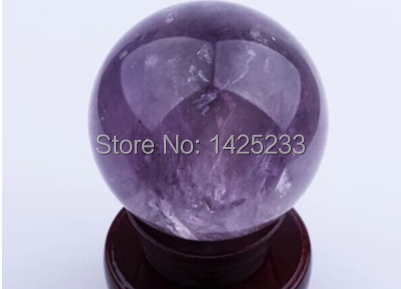 50mm Natural amethyst quartz crystal, ball to heal