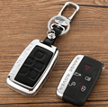 Smart Card Shell Remote Fob Key Cover with Leather Protection Case for Land Rover Range Rover Sport Discovery 4 Freelander 2