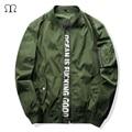 2016 New Men Bomber Jacket Hip Hop Patch Designs Slim Fit Pilot Bomber Jacket Coat Men Jackets Jaqueta Masculina Army Green j35
