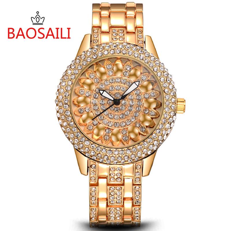 Prix pour BSL1031 BAOSAILI Célèbre Marque Montre-Bracelet Brillant Plein de Diamants De Luxe Dames Montres