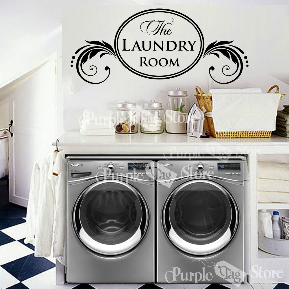 New 2015 Laundry Vinyl Wall Decal Housewife Housekeeper ...