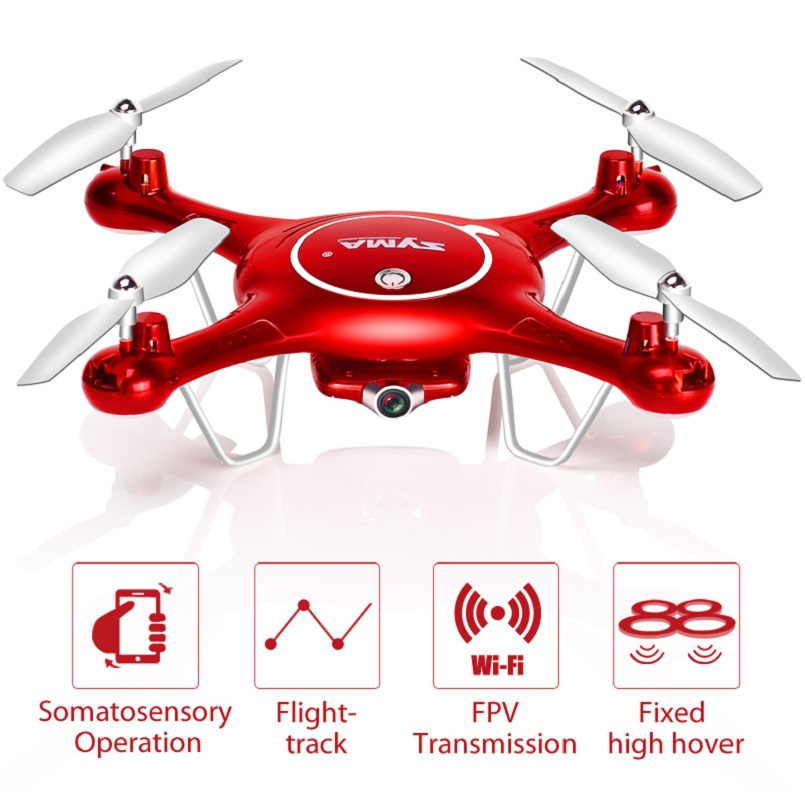 Syma X5uw Drone With Wifi Camera Hd 720p Real-time Transmission Fpv Quadcopter 2.4g 4ch X5uc Rc Helicopter Dron Quadrocopter Con syma rc quadcopter drone x5sw x5hw wifi fpv hd camera real time transmission 4ch 2 4g remote control helicopter rc drones toy