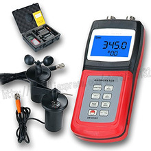 LANDTEK AM-4836C Air velocity/flow sensor3-cup probe Digital Anemometer AM4836C
