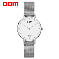 DOM 2018 Bracelet Rose Gold Watch Women Quartz Watches Ladies Top Brand Luxury Female Wrist Watch Girl Clock Relogio Feminino