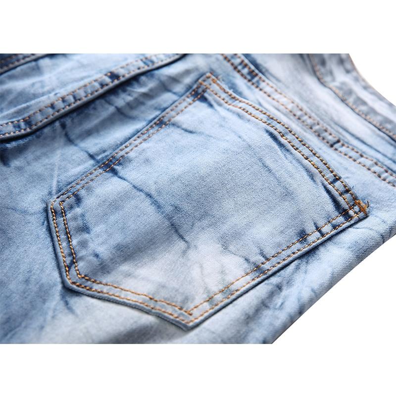Nuovo 42 Elasticità Del Sottile Il Modo Più Di Formato Pantaloni Degli Denim  Disegno 1723 Sesso Biker Uomini Maschile Dei Jeans ... daf5237c406e