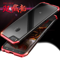 Luxury Transparent Xiaomi Mi 5X Case With Glass Back Hard Cover Phone Frame Shell Bumper Case