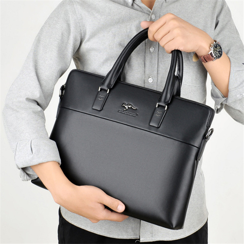 b534c14114 SAQIDAISHU High Quality Leather Men Briefcase Large Capacity Male Business  Handbag Gentleman Male Messenger Bag Classic Style-in Top-Handle Bags from  ...