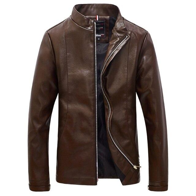 2016 Мужчины Осень Кожа PU Куртки Пальто И Пиджаки Jaqueta Masculina мужская Повседневная Мода Slim Fit Большой Размер Весте Homme куртки
