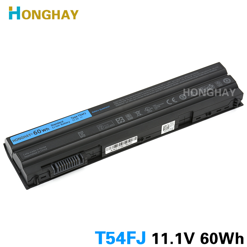 Honghay T54FJ 60Wh Laptop Battery for DELL Latitude E5420 E5430 E5520 E5530 E6420 E6430 E6520 E6530 T54F3 8858X 5525 5720 7420 jigu laptop battery for dell 8858x 8p3yx 911md vostro 3460 3560 latitude e6120 e6420 e6520 4400mah
