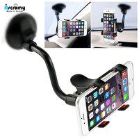 Ascromy Car Phone Mount Windshield Long Arm Clamp Universal Cell Phone Holder For Xiaomi Redmi Note 7 Pro iPhone X XS Max XR 8 6