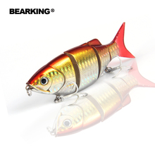 Bearking Hot model 5pcs/lot fishing lure Swimbait jointed 80mm 10g hard bait fish fresh water lure minnow free shipping