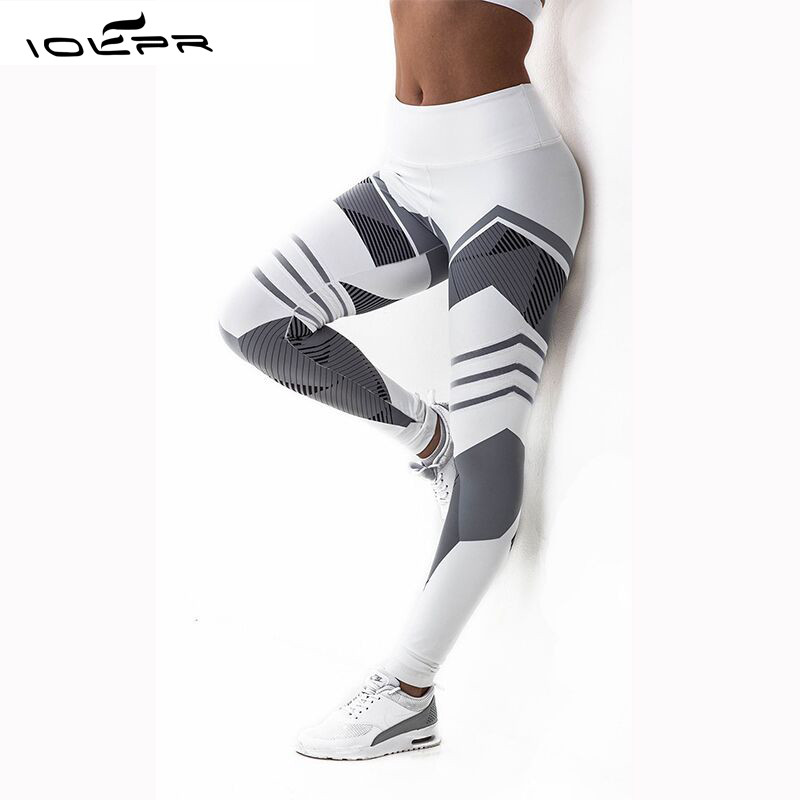 women leggings women digital printing honeycomb black and white Pattern Leggings Fitness high waist elastic workout leggings