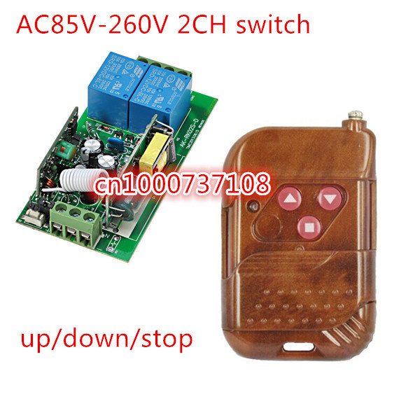 220v wireless remote control switch electric door rolling gate curtain remote control switch 315mhz/433mhz with CE 330mhz 8 dip switch 5326 auto gate duplicate remote control
