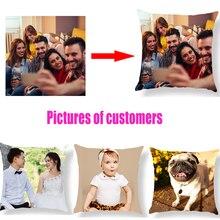 Дизайн рисунок здесь принт, домашнее животное, свадьба личная жизнь фотографии настроить Подарочные чехлы на подушки для дома Наволочки