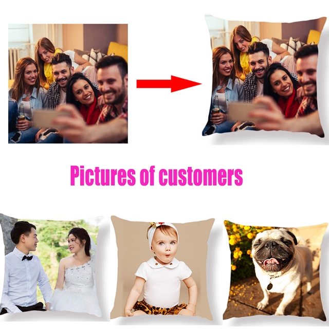 2018 Thiết Kế Mới Hình Ảnh ở đây In, Vật Nuôi, đám cưới cuộc sống cá nhân hình ảnh tùy chỉnh quà tặng home cushion cover Gối Gối bìa