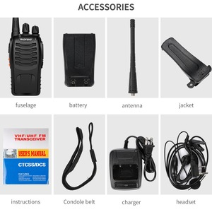 Image 5 - Baofeng BF 888S Walkie Talkie 5W Handheld Pofung bf 888s UHF 400 470MHz 16CH Two way Portable CB Radio Free shipping