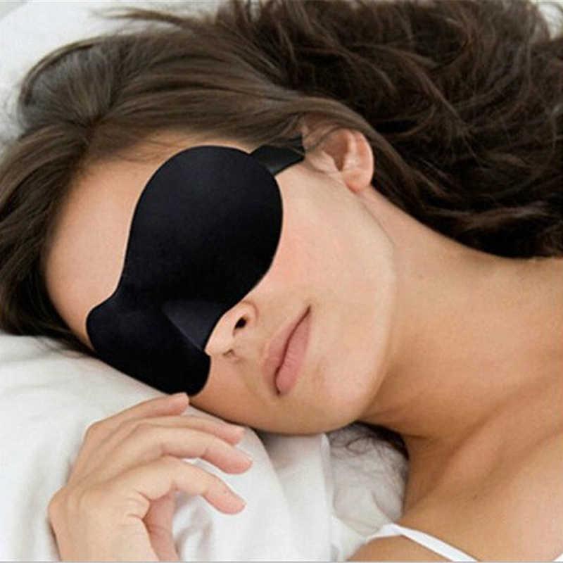 Máscara 3d macia para dormir, máscara acolchoada, para descanso de viagem, fácil de usar, remendo para dormir, unissex