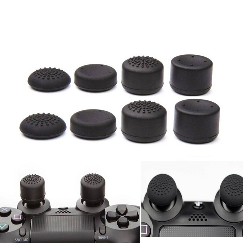 8pcs/Lot Enhanced Silicone Analog Controller Thumb Stick Grip Cap Skin Cover For Sony PlayStation 4 PS4 Slim PRO Ps4 Accessories