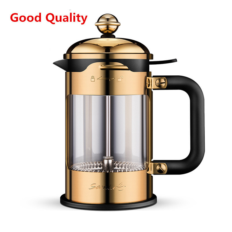 304 French Press Coffee Maker Best Double Walled Stainless Steel Cafetiere Insulated Coffee Tea Maker Pot