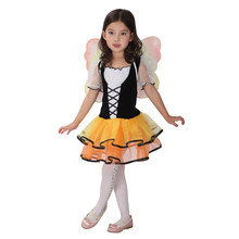 Kids Child Girls Lovely Butterfly Fairy Princess Cosplay Costume Fantasia Halloween Carnival Mardi Gras Party Dress