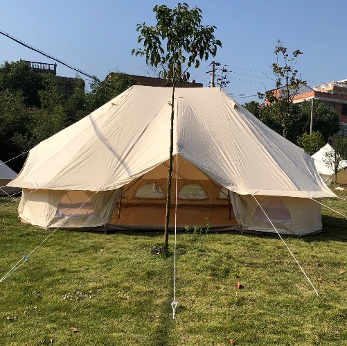 Livraison gratuite marque 3 portes 4*6 mètres grande tente de glamping