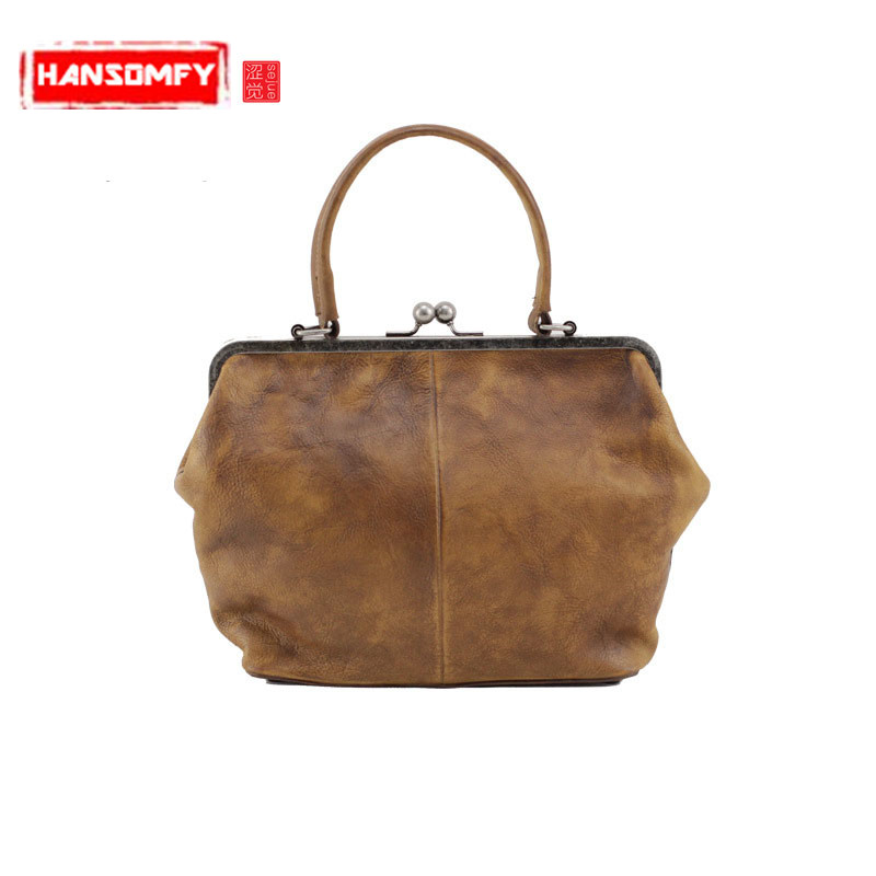 Genuine Leather Women Handbags doctors wrapped in the first layer of leather female imported leather tannets shoulder bagsGenuine Leather Women Handbags doctors wrapped in the first layer of leather female imported leather tannets shoulder bags