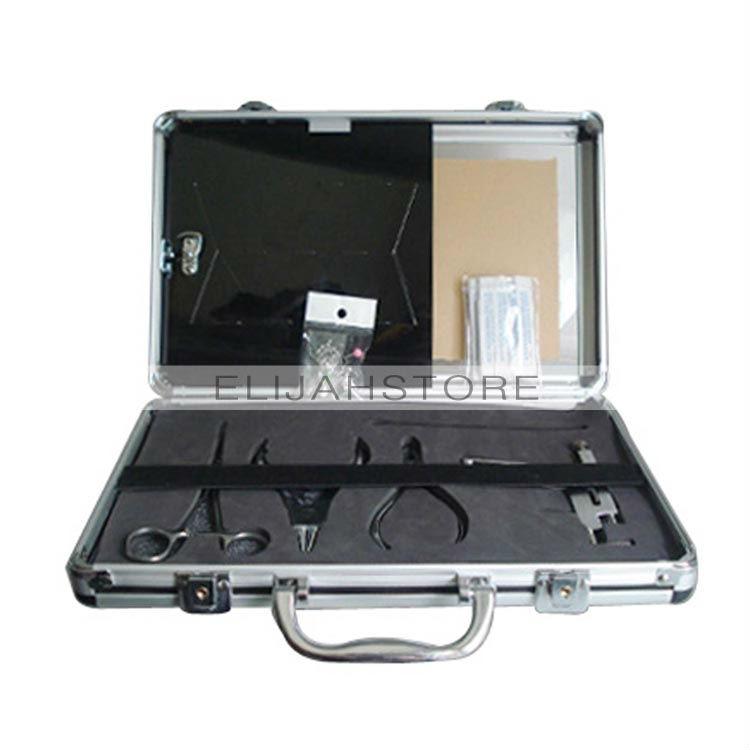 ФОТО Quality 4pcs Stainless Steel Ear Piercing Gun Pierce Tool Kits Hot Free Shipping