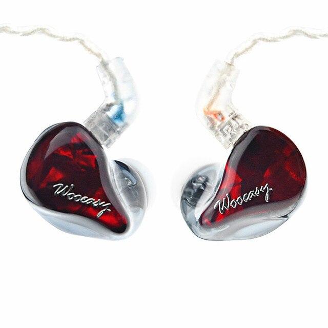 Wooeasy dx3 3BAで耳イヤホンカスタムメイドバランスアーマチュア周り耳イヤホンでmmcxメッキイヤホン