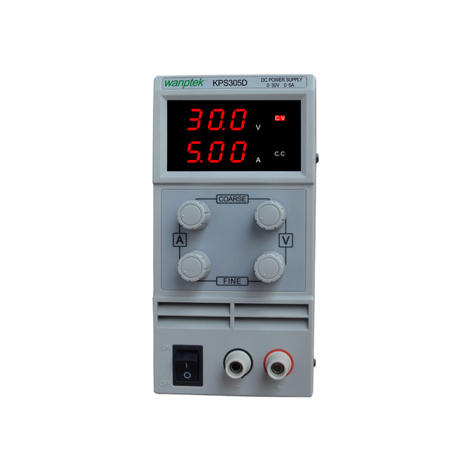 KPS 305D Adjustable High precision double LED display switch DC Power Supply protection function