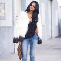Floating Hair Jacket Fluffy Fur Coat Women Lady Fur Coat Fur Faux Fox Jackets Hairy Overcoat Party Thick Warm Coat Plus Size 3XL