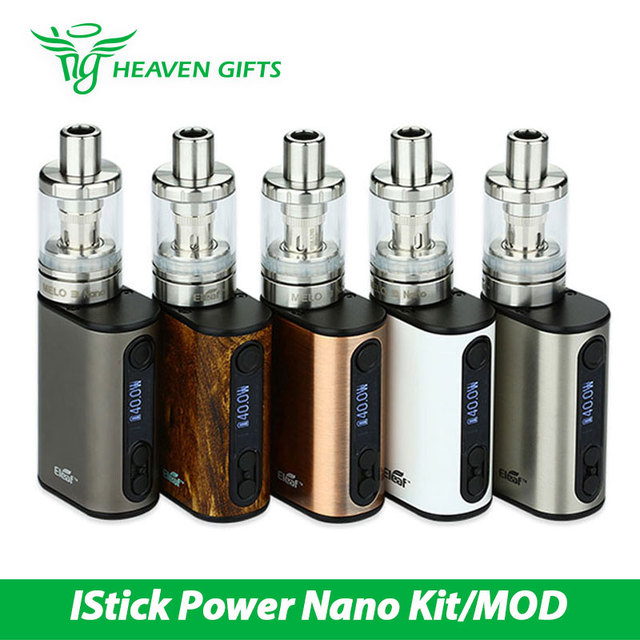 Eleaf iStick 40W Power Nano Full Kit E-cig with 1100mAh Power Nano Battery Box  Mod & 2ml Melo 3 Nano Atomizer Vape vs nano mod