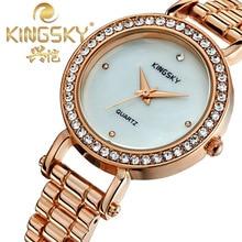 Мода Имитация Алмазный Часы Кварцевый Девушки Женщин Подарок наручные часы Reloj Mujer