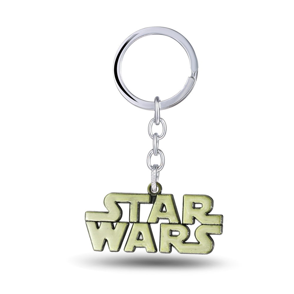 MS JEWELS Words Character Star Wars metal Keychain Letter Souvenirs Key Chain 2 Colors Metal Key Rings