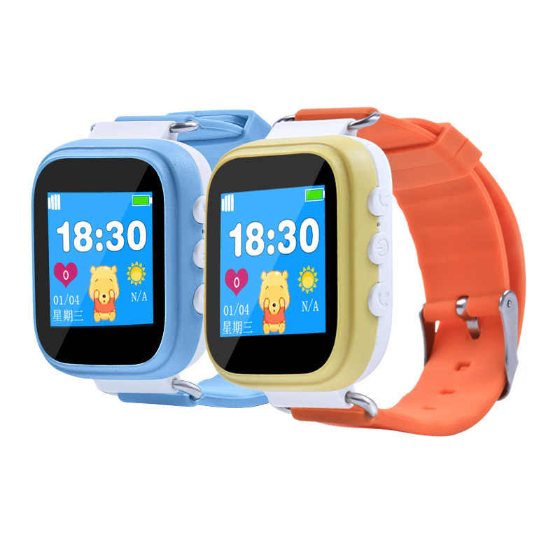 GPS Positioning Fashion Phone Watch 1.22 Inch Color Touch Screen SOS Smart Watch  Smart Watch Kids Baby Watch