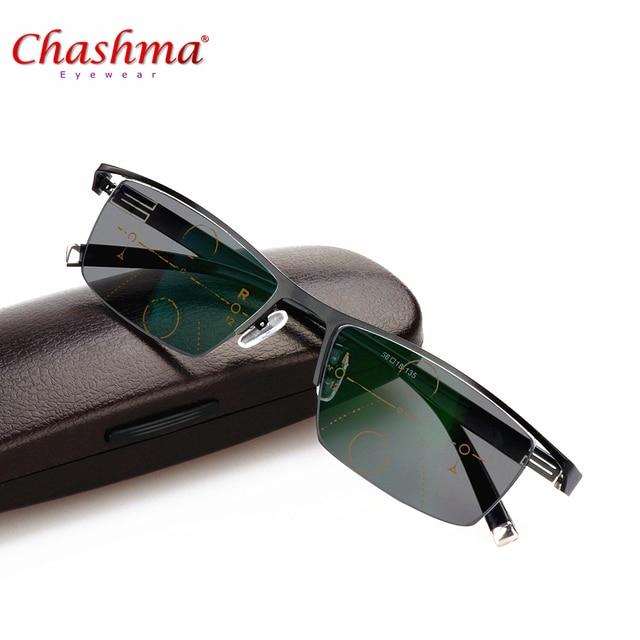 24c66376f55d8 Transição Fotocromáticas Óculos de Sol Óculos de Leitura Homens óculos de  Dioptria ajustável visão Com Multifocal