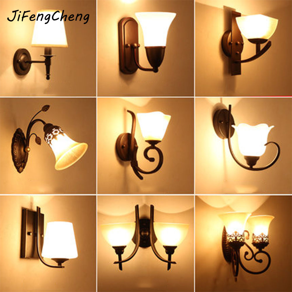 LED Wall Lamp Vintage Indoor Lighting Antique Lamp Luminarias 110-220V Bedside Lamp Industrial Wall Lights Nordic Lamp modern lamp trophy wall lamp wall lamp bed lighting bedside wall lamp