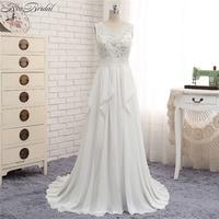 New Romantic Beach Wedding Dresses Sexy Backless Chiffon Cheap Dress For Bride Summer Style Vestido Longo